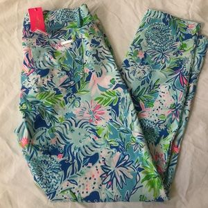 NWT Lilly Pulitzer South Ocean Jean lion around 10